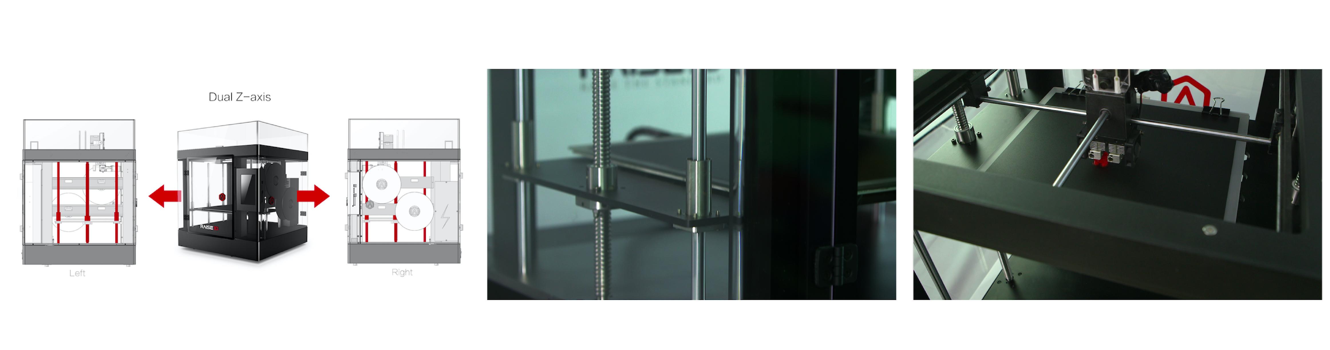 高さ610mmまでの大型造形から小さい造形まで可能な3種類のスタイル